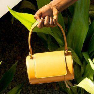 Melie Bianco Bags - Brooke Mustard Barrel Bag